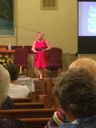 Speaking Sept 2013 at Woodlawn Baptist Church in Savannah, GA