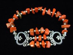 09-00310 Red Jasper Nugget Bracelet