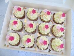 Flowery Birthday Cupcakes