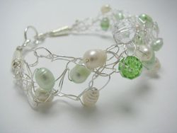 Wire Pearls and Swarovski Crystlas