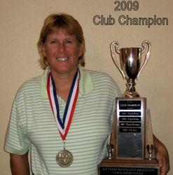 Our Club Champion for 2009- Theresa Prospero