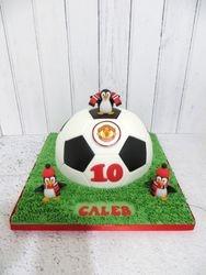 Football and Penguin Birthday Cake