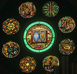 Tiffany, Rose Window, Willard Memorial Chapel,