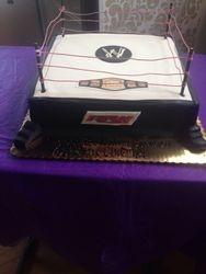 Wrestling Ring Cake WWE RAW