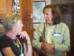 Secretary Sue Reepmeyer with Betsey McGuigan