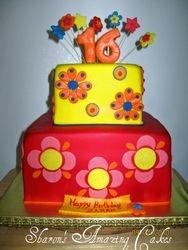 CAKE 34A2- Flower Power Cake
