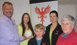 Cheque presentation to Mind - in memory of Jamie Brockwell
