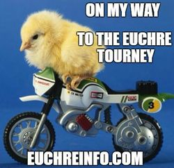 On my way to the Euchre tourney.