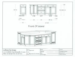 Island Front Elevation & 3D