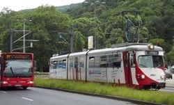 Duewag tram No. 4108 on Poststrasse