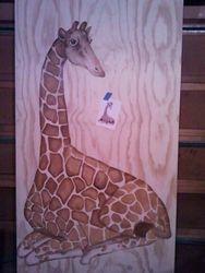 8' Giraffe Table Before Staining