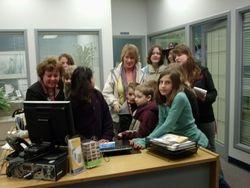 Wildwoodville's citizens visit the Credit Union