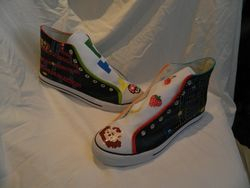 Other sides of handpainted retro gamer boots
