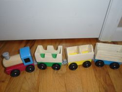 Melissa & Doug Wooden Farm Train Toy Set - $10