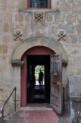 Santa Barbara Mission Graveyard Doorway