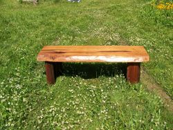 """Cedar bench, 48""""x20"""""""