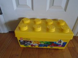 Lego Duplo Bucket with 100 Blocks - $30