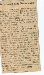 Brumbaugh, Laura May Saylor 1947