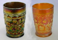 Apple Tree tumbler, blue and marigold
