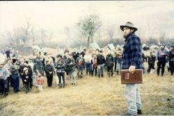 1994 Henning addressing the celebrities (with the original #1 photo album)
