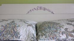 Tête de lit peinte et nos moulures flexible efex