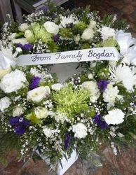 All White Rememberance Wreath