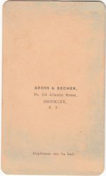 Gross & Becher of Brooklyn, NY - back