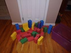 Big Builders Cardboard Blocks- 29 with Tote - $15