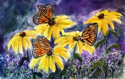 Monarchs and Black Eyed Susans