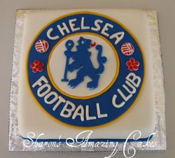CAKE 13G -Chelsea Football Club Logo Cake 1