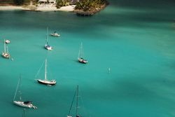 Moonlight anchored in Jolly Harbour, Antigua
