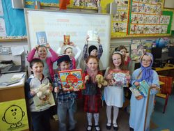 Junior Room dress up as some of their favourite book characters