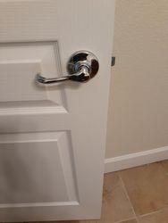 Installed door handle