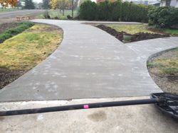 Cement poured and finished