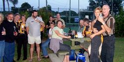 Northern Gateway Members enjoying the Friday night BBQ at Coffs Capers - Nov 2005