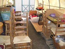 antique ladder back chairs + other antique and vintage items