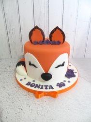 Fox Birthday Cake