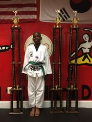 05/16/2015 S. Pavlou TKD Championships  Sidney Duverneau 1st Place Forms 1st Place Breaking  1st Place Sparring