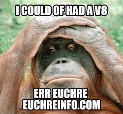 I could of had a V8...errr Euchre.