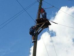 Michael climbs to zip line platform