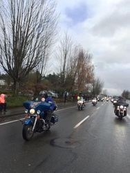 Riding on the Toy Run