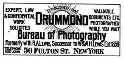 Drummond, photographer, New York, NY