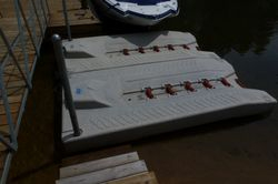 Floating PWC docking stations