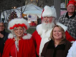 Mr. & Mrs Claus & Kelly Bates