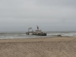 quite a few ship wrecks along this coast, right on the beach!