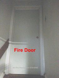 Fire Door installed - New frame & lock