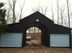 Enter Through the Covered Garages