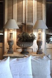 #18/249 Pair of Wooden Baluster Lamps SOLD