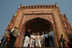 At the Gates of Agra Fort