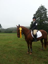Theo's first USEA Novice - 3rd place